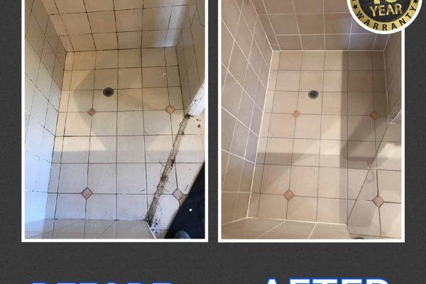 Aquashield Bathrooms - Smart Seal -Before_After ten year warranty